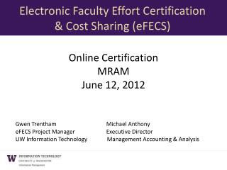 Online Certification MRAM June 12, 2012