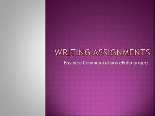 writing assignments
