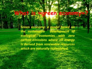 What is «green economy»?