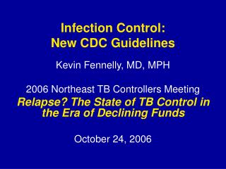 infection control: new cdc guidelines