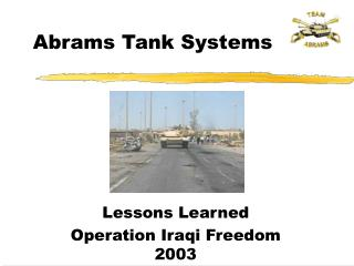 abrams tank systems