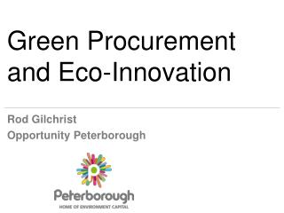 Green Procurement and Eco-Innovation