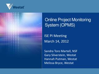Online Project Monitoring System (OPMS)