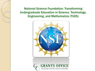National Science Foundation: Transforming Undergraduate Education in Science, Technology, Engineering, and Mathematics