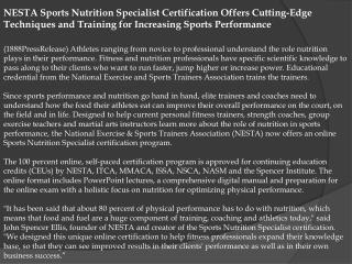 nesta sports nutrition specialist certification offers cutti