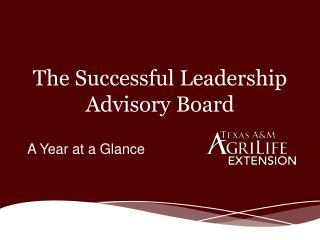 The  Successful Leadership  Advisory Board