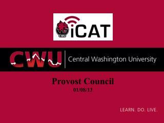 Provost Council 01/08/13