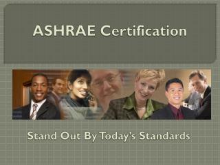 ASHRAE  Certification
