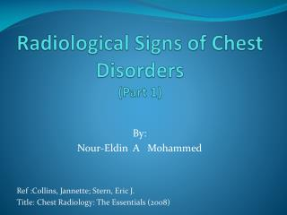 radiological signs of chest disorders  part 1
