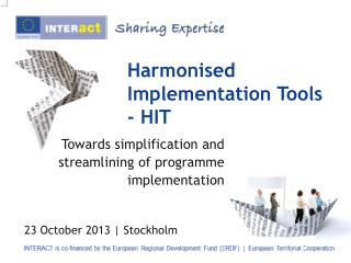 Harmonised Implementation Tools - HIT