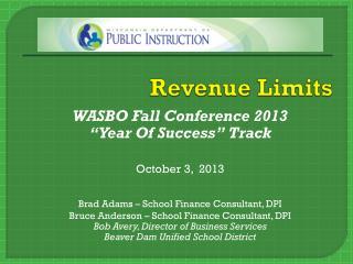 Revenue Limits