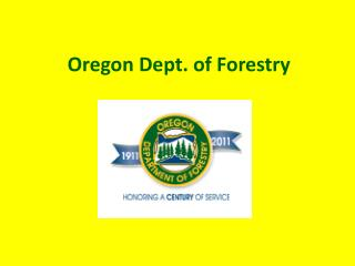 Oregon Dept. of Forestry