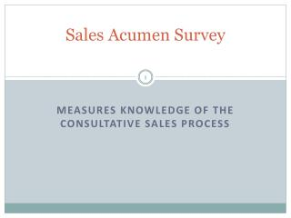 Sales Acumen Survey