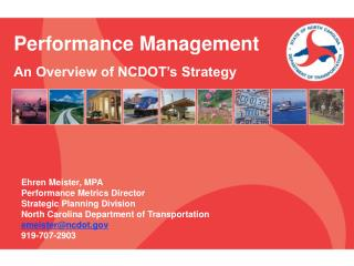 Performance Management An Overview of NCDOT's Strategy