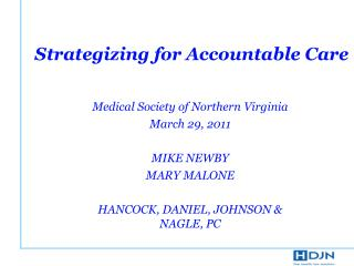 Strategizing for Accountable Care