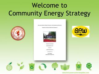 Welcome to  Community Energy Strategy