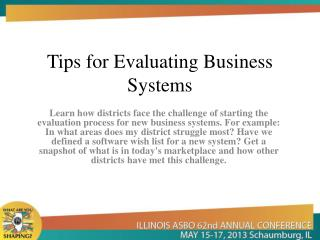 Tips for Evaluating Business Systems