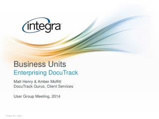 Business Units Enterprising DocuTrack