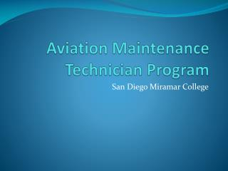 aviation maintenance technician program