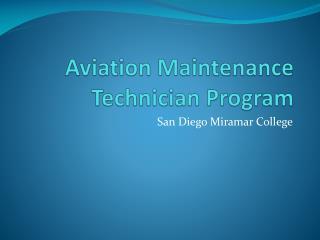 aviation maintenance technician program