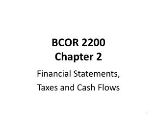 BCOR 2200 Chapter  2