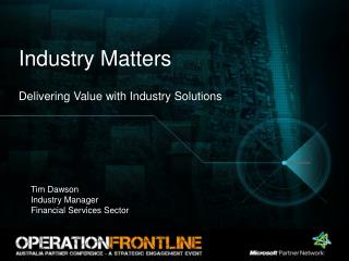 Industry Matters