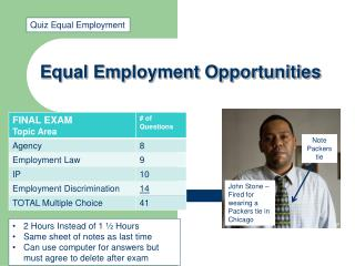 Equal Employment Opportunities