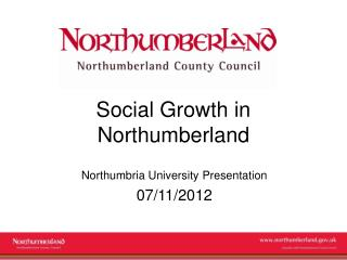 Social Growth in Northumberland