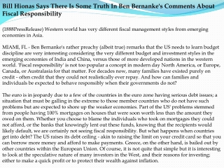 bill hionas says there is some truth in ben bernanke's comme