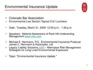 environmental insurance update