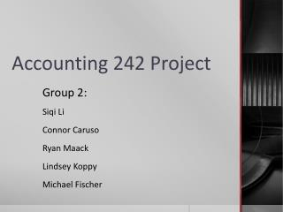 Accounting 242 Project