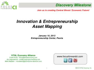 Innovation & Entrepreneurship Asset Mapping