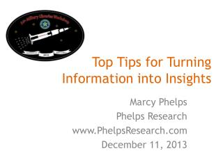 Top Tips for Turning Information into Insights