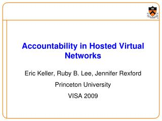 Accountability in Hosted Virtual Networks