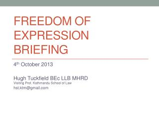 Freedom of expression Briefing