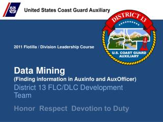 Data Mining (Finding information in  Auxinfo  and  AuxOfficer )