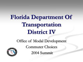 florida department of transportation  district iv