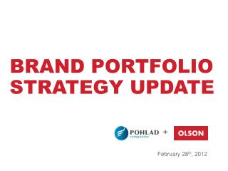 Brand portfolio strategy update