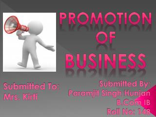 Promotion  Of