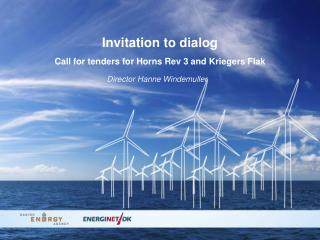 Invitation to dialog Call  for tenders for Horns Rev 3 and Kriegers Flak