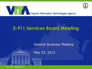 E-911  Services Board Meeting