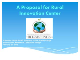 A Proposal for Rural Innovation Center