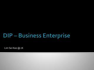 DIP – Business Enterprise