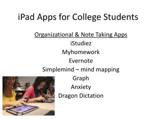 iPad  Apps for College Students