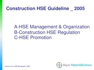 construction hse guideline _ 2005