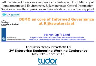 DEMO as core of Informed Governance at Rijkswaterstaat