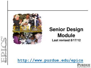 Senior Design Module Last revised  8/17/12