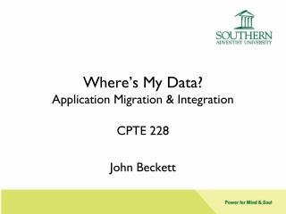 Where's My Data ? Application Migration & Integration