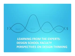 LEARNING  FROM THE EXPERTS:  DESIGN  SCHOOL FACULTY  PERSPECTIVES  ON DESIGN THINKING