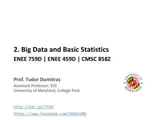 2. Big Data and Basic Statistics